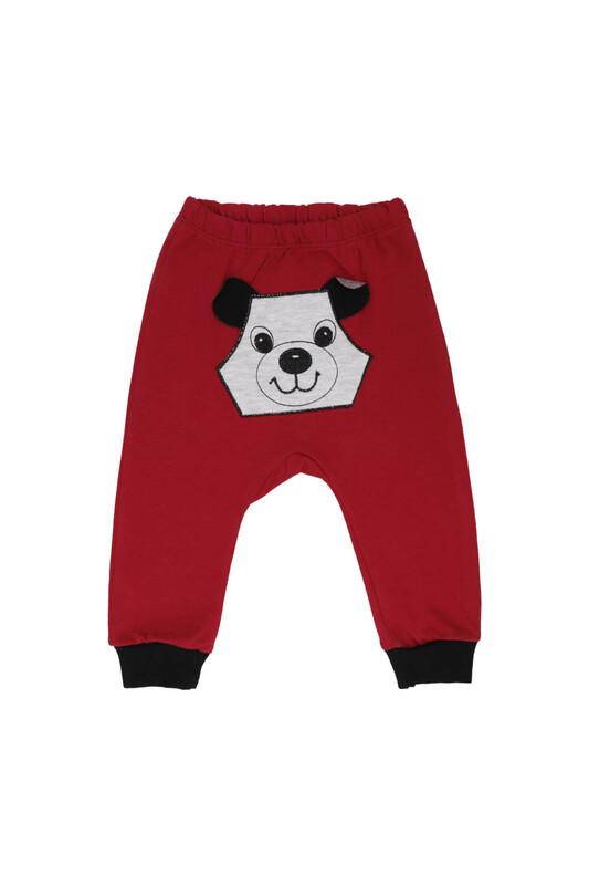MANCAR - Köpek Nakışlı Bebek Tek Alt 1043 | Kırmızı