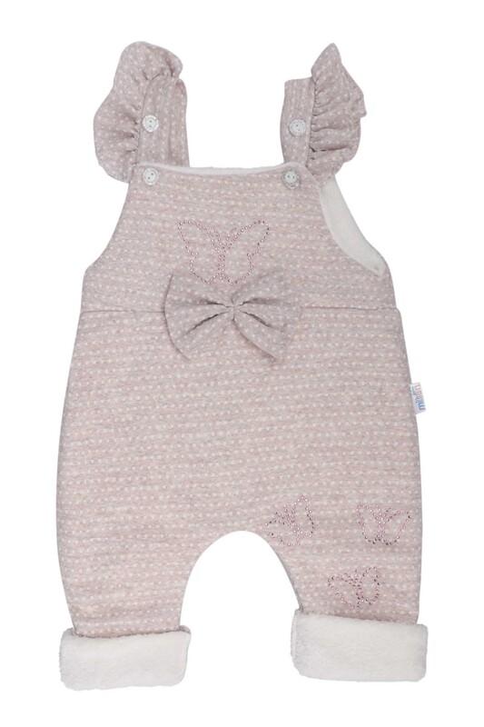 MİLLİON - Kelebek Süslemeli Bebek Tulum 2221 | Krem