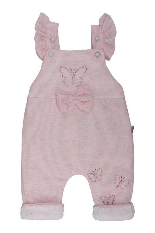 MİLLİON - Kelebek Süslemeli Bebek Tulum 2221 | Pembe