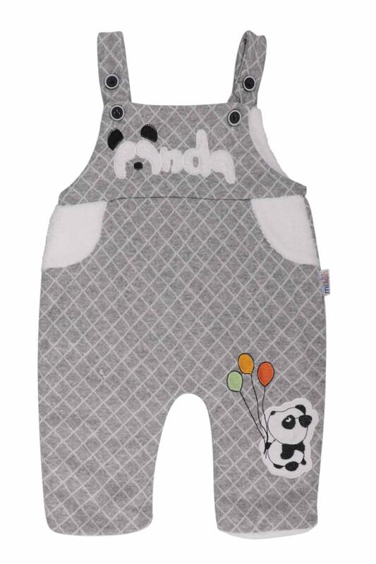 MİLLİON - Panda Nakışlı Bebek Tulum 2223 | Füme