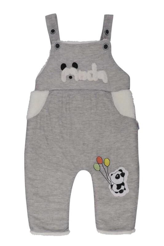 MİLLİON - Panda Nakışlı Bebek Tulum 2223 | Gri