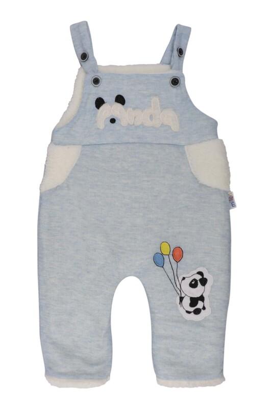 MİLLİON - Panda Nakışlı Bebek Tulum 2223 | Bebe Mavi
