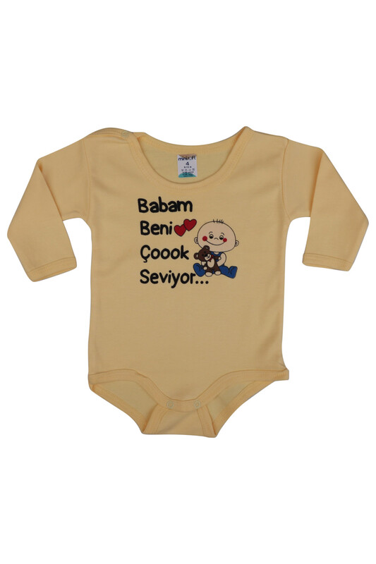 SİMİSSO - Babam Beni Çok Seviyor Bebek Zıbın   Sarı