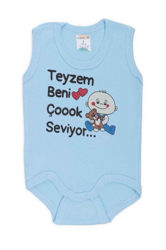 SİMİSSO - Teyzem Beni Çok Seviyor Bebek Zıbın   Mavi