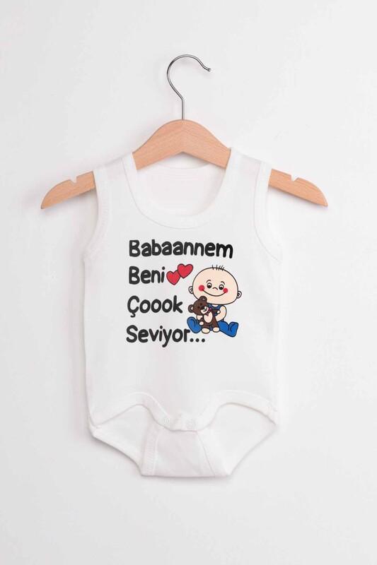 SİMİSSO - Babaannem Beni Çok Seviyor Bebek Zıbın   Krem