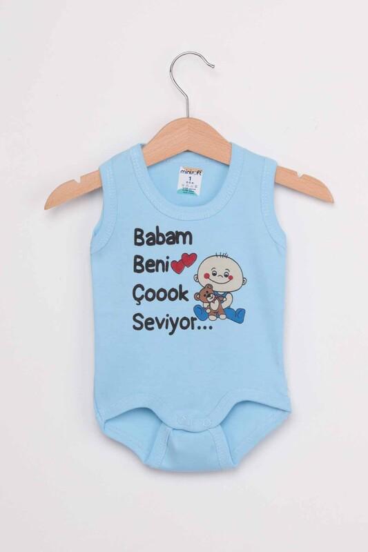 SİMİSSO - Babam Beni Çok Seviyor Bebek Zıbın   Mavi