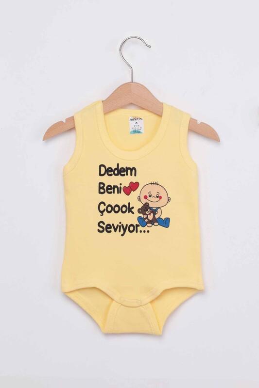 SİMİSSO - Dedem Beni Çok Seviyor Bebek Zıbın   Sarı