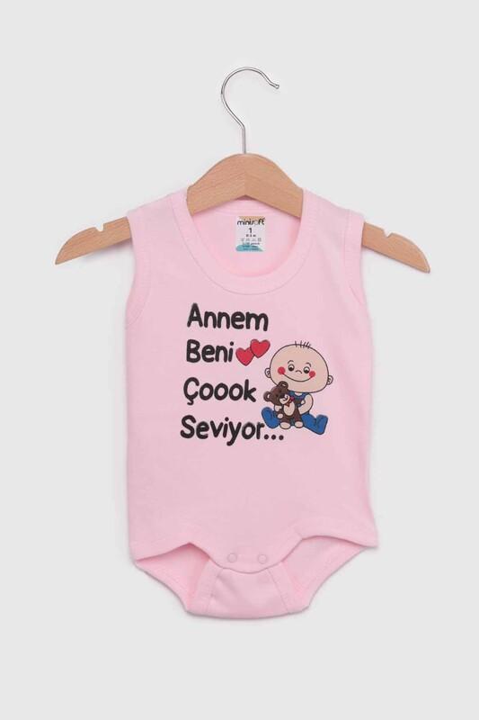 SİMİSSO - Annem Beni Çok Seviyor Bebek Zıbın | Pembe
