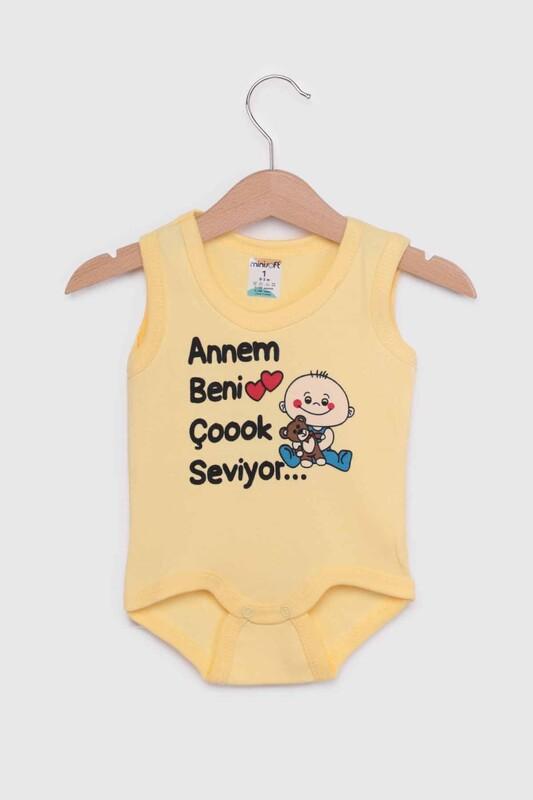 SİMİSSO - Annem Beni Çok Seviyor Bebek Zıbın   Sarı