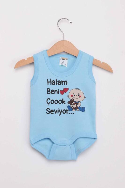 SİMİSSO - Halam Beni Çok Seviyor Bebek Zıbın   Bebe Mavi