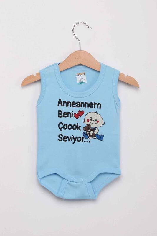 SİMİSSO - Anneannem Beni Çok Seviyor Bebek Zıbın | Mavi