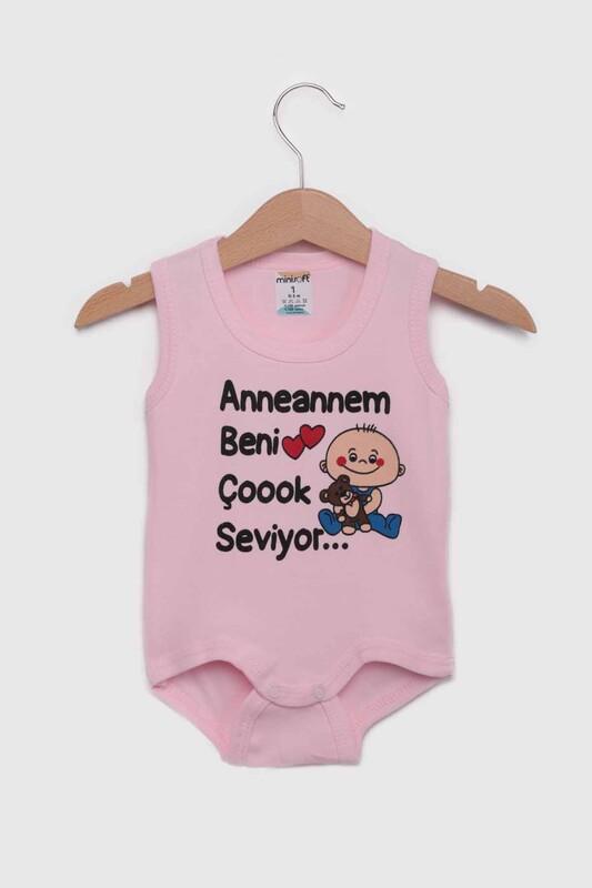 SİMİSSO - Anneannem Beni Çok Seviyor Bebek Zıbın   Pembe