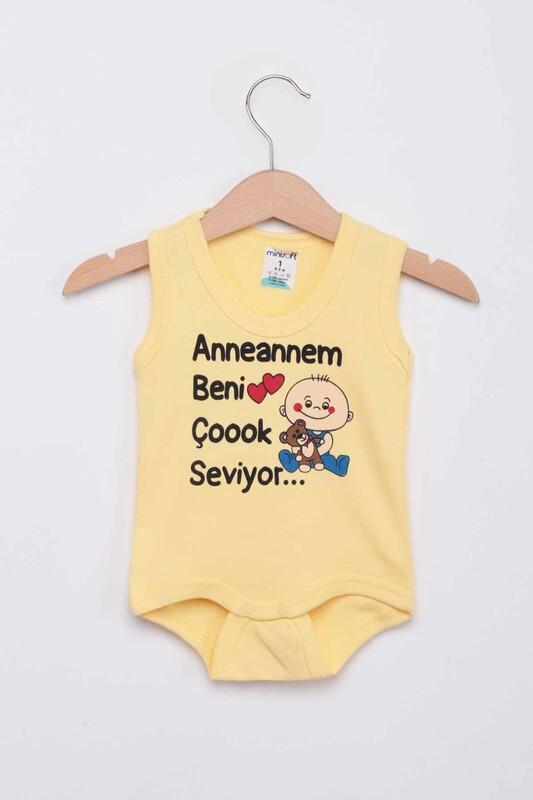 SİMİSSO - Anneannem Beni Çok Seviyor Bebek Zıbın | Sarı