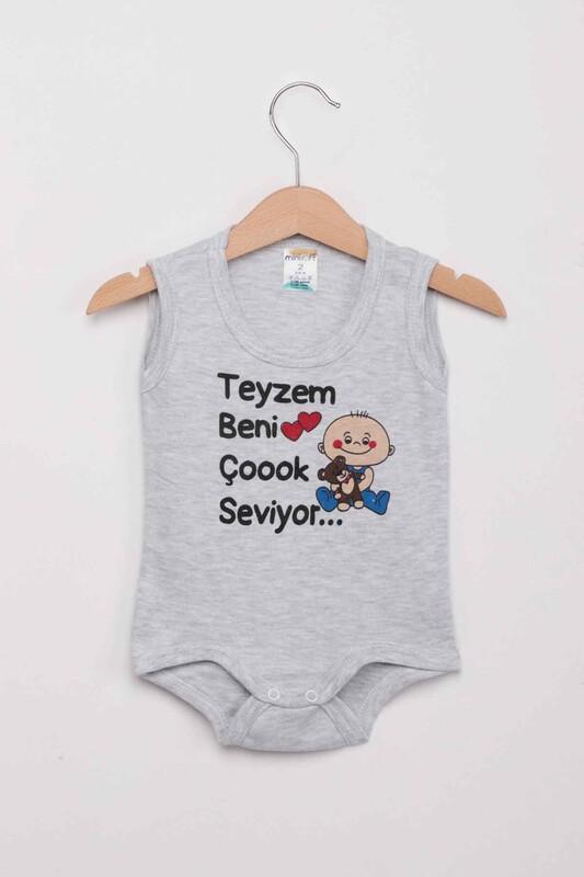 SİMİSSO - Teyzem Beni Çok Seviyor Bebek Zıbın   Gri