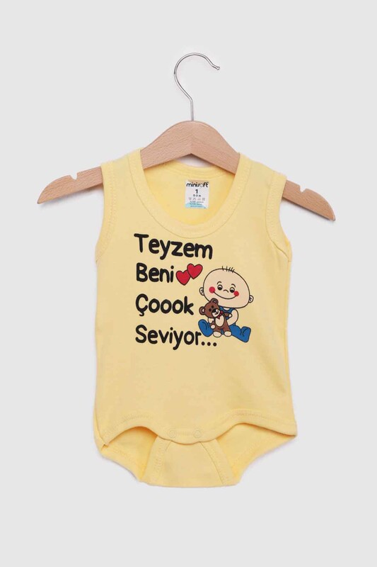SİMİSSO - Teyzem Beni Çok Seviyor Bebek Zıbın | Sarı
