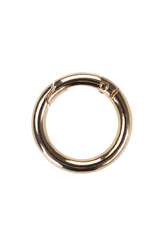 MİR PLASTİK - Metal Yaylı Halka 2,5 Cm | Altın