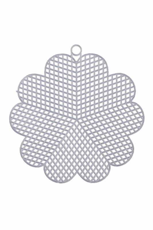 MİR PLASTİK - Plastik Kanvas Çiçek 13 cm