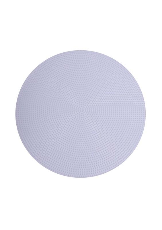SİMİSSO - Simisso Plastik Çanta Kanvası Yuvarlak 29 cm | Beyaz