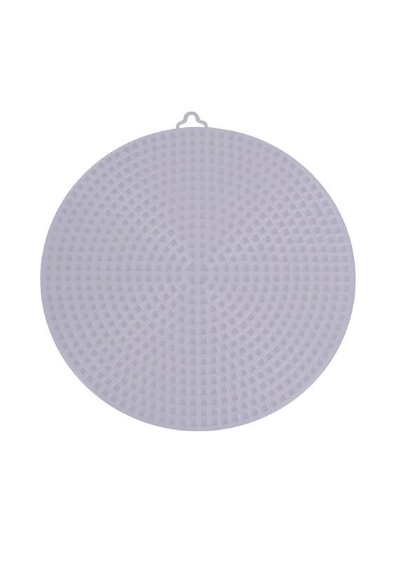 SİMİSSO - Simisso Plastik Çanta Kanvası Yuvarlak 15 cm | Krem
