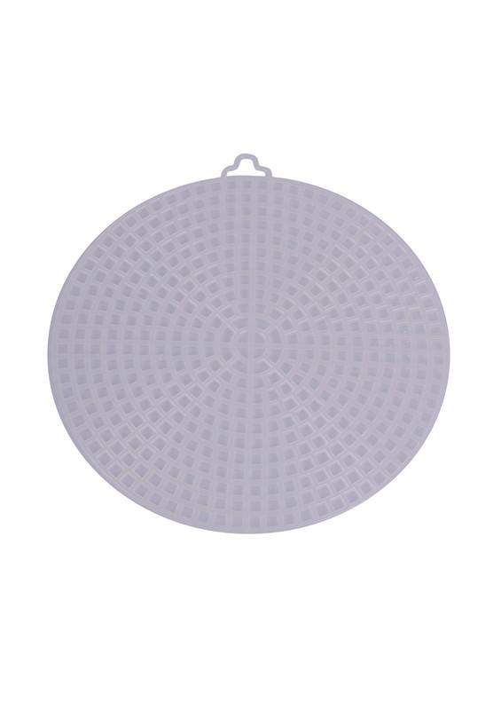 SİMİSSO - Simisso Plastik Çanta Kanvası Yuvarlak 11 cm | Krem