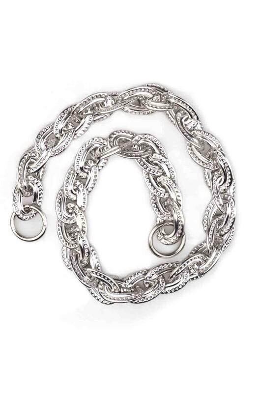 SİMİSSO - Kancalı Çanta Zinciri Gümüş 008