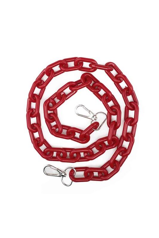 SİMİSSO - Kancalı Çanta Zinciri Kırmızı 005