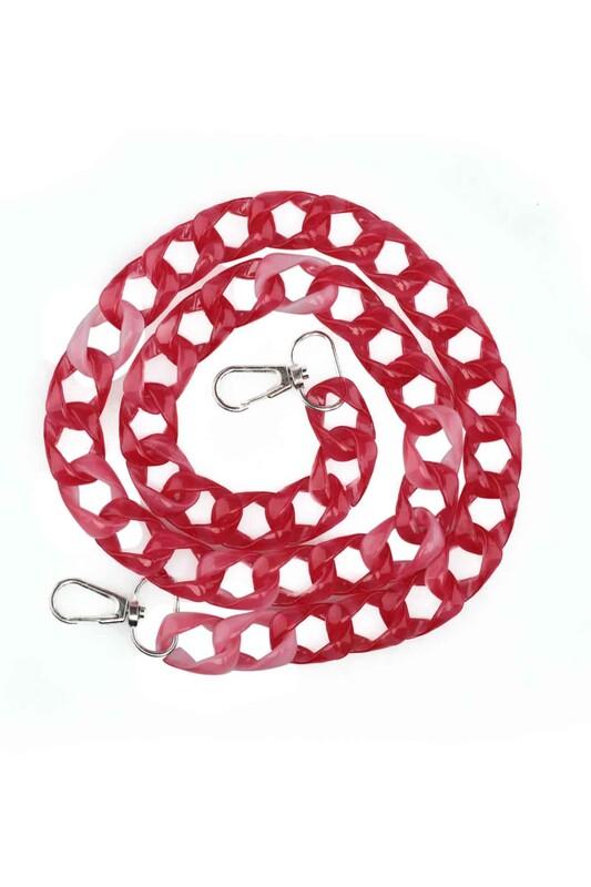 SİMİSSO - Kancalı Çanta Zinciri Kırmızı 003