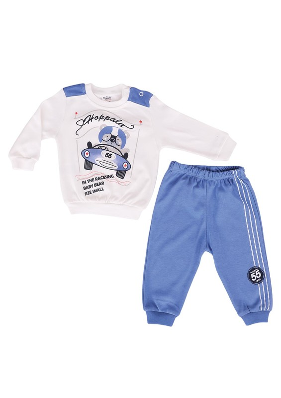 HOPPALA BABY - Hoppala Baby Bebek Takımı 682   Mavi