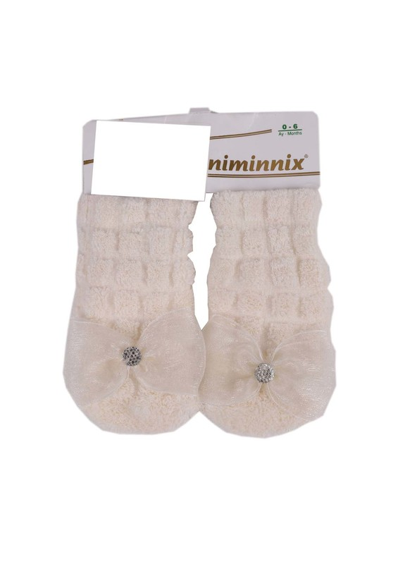 MİNİMİNNİX - Miniminnix Havlu Çorap 358 | Krem