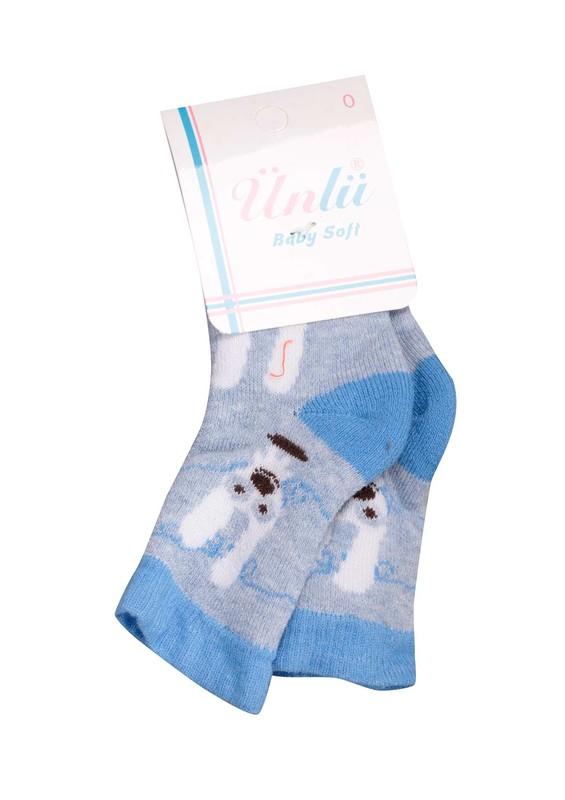 ÜNLÜ BABY - Ünlü Baby Çorap 002   Mavi