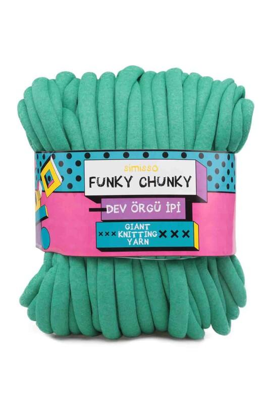 SİMİSSO - Simisso Funky Chunky Dev Örgü İpi Yeşil 801