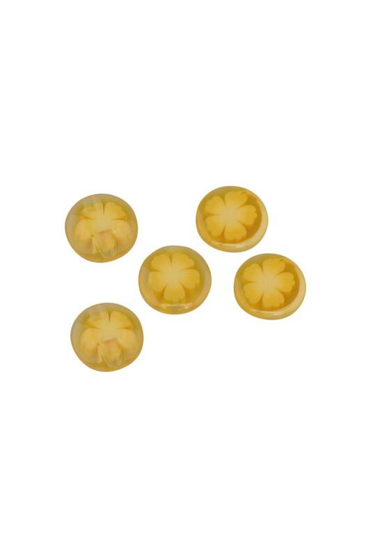 SİMİSSO - Desenli Düğme 5 Adet Model 12   Sarı
