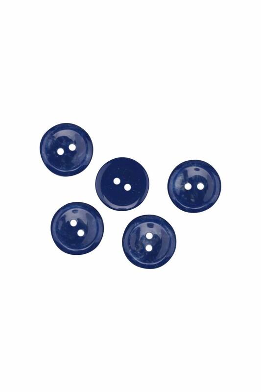 SİMİSSO - Düğme 5 Adet 17 mm | Mavi
