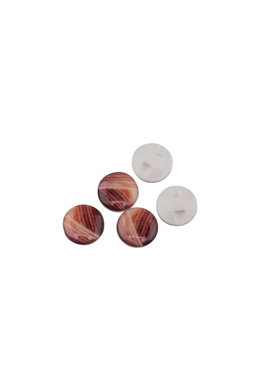 SİMİSSO - Desenli Düğme | Kahverengi