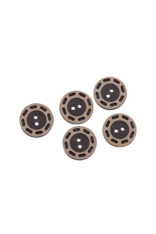 SİMİSSO - Delikli Düğme Kahverengi