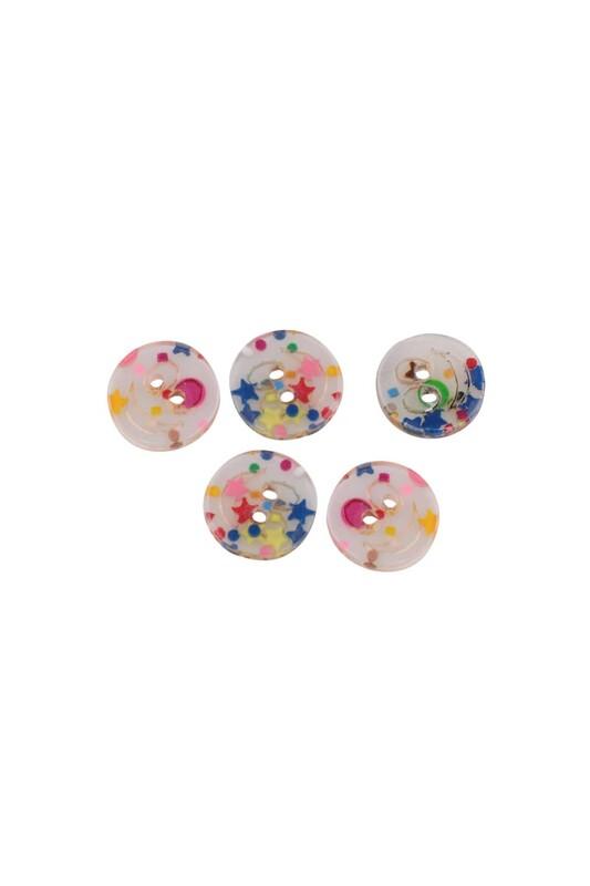 SİMİSSO - Gülen Yüz Figürlü Şeker Düğme 5 Adet