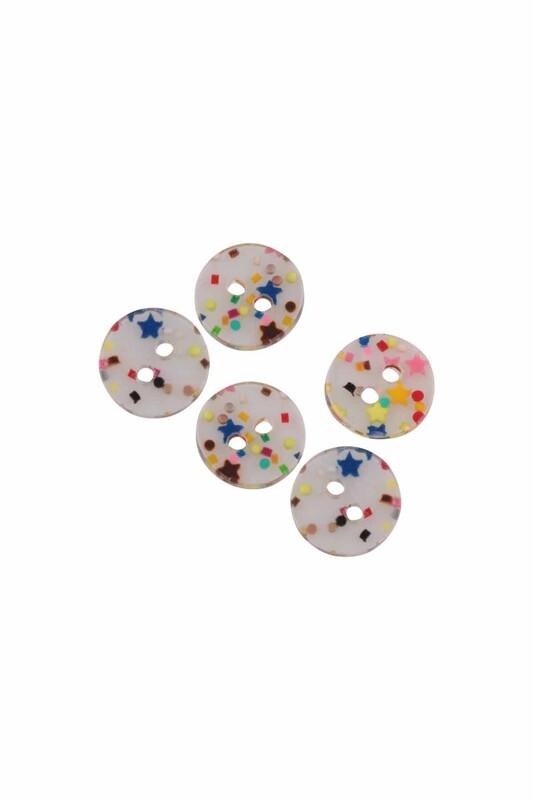 SİMİSSO - Yuvarlak Şeker Düğme 5 Adet