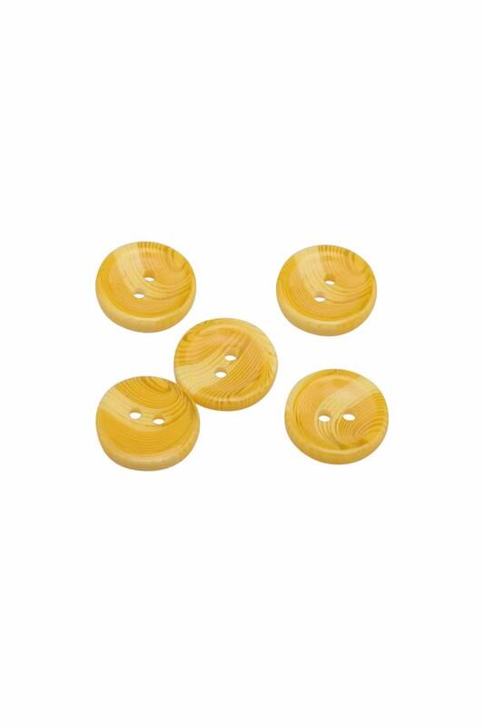 SİMİSSO - Desenli Düğme 5 Adet Model 1 | Sarı