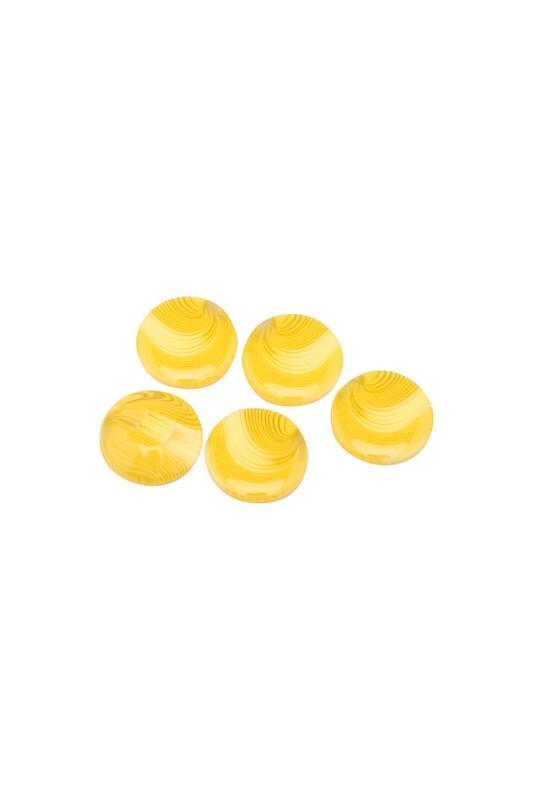 SİMİSSO - Desenli Düğme 5 Adet Model 6 | Sarı