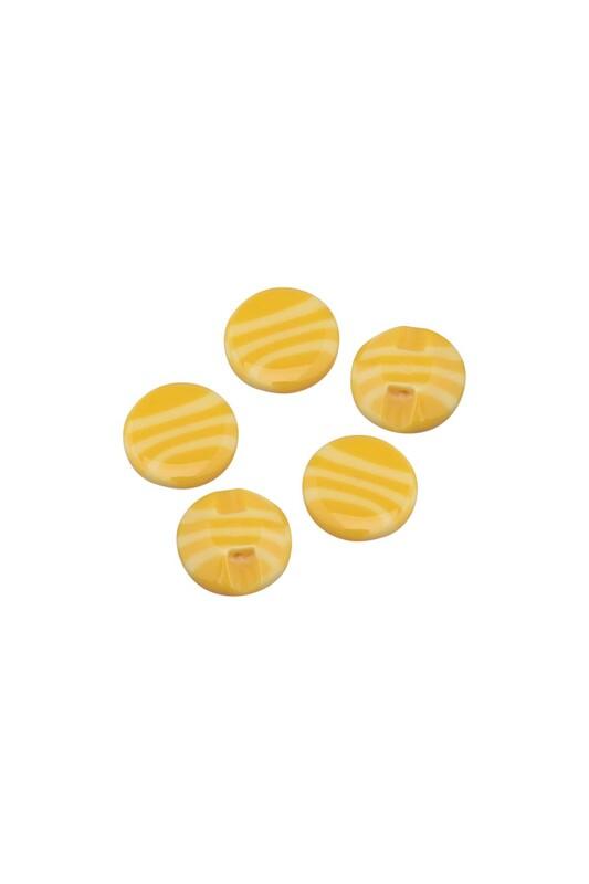 SİMİSSO - Desenli Düğme 5 Adet Model 11 | Sarı