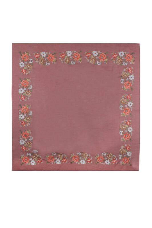 İPEKÇE - İpekçe Çiçek Desenli Yazma 90 cm   033