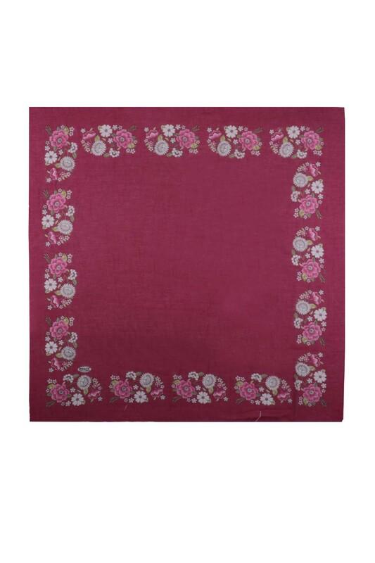 İPEKÇE - İpekçe Çiçek Desenli Yazma 90 cm | 034