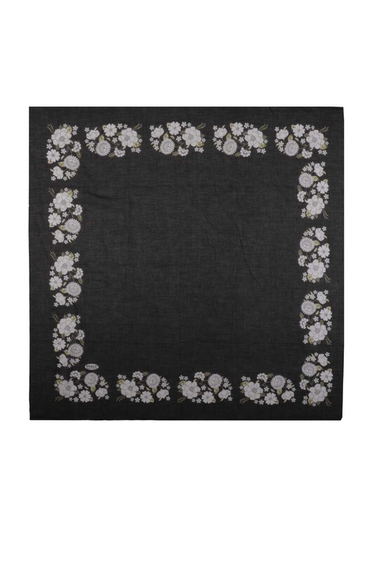 İPEKÇE - İpekçe Çiçek Desenli Yazma 90 cm | 036