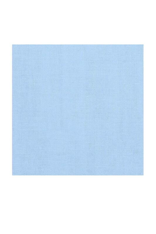 KAŞMİR - Kaşmir Dikişsiz Düz Yazma 100 cm Bebe Mavi 26