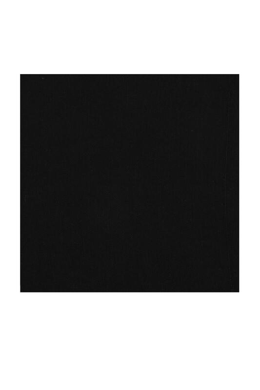 KAŞMİR - Kaşmir Dikişsiz Düz Yazma 90 cm Siyah 2