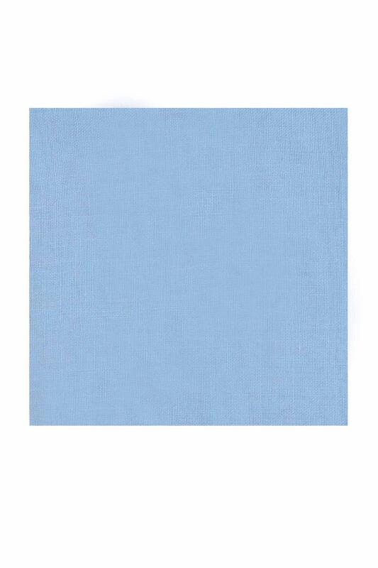 KAŞMİR - Kaşmir Dikişsiz Düz Yazma 90 cm Bebe Mavi 26