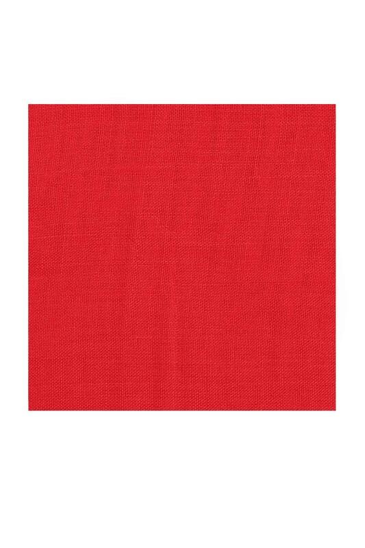KAŞMİR - Kaşmir Dikişsiz Düz Yazma 90 cm Açık Kırmızı 24