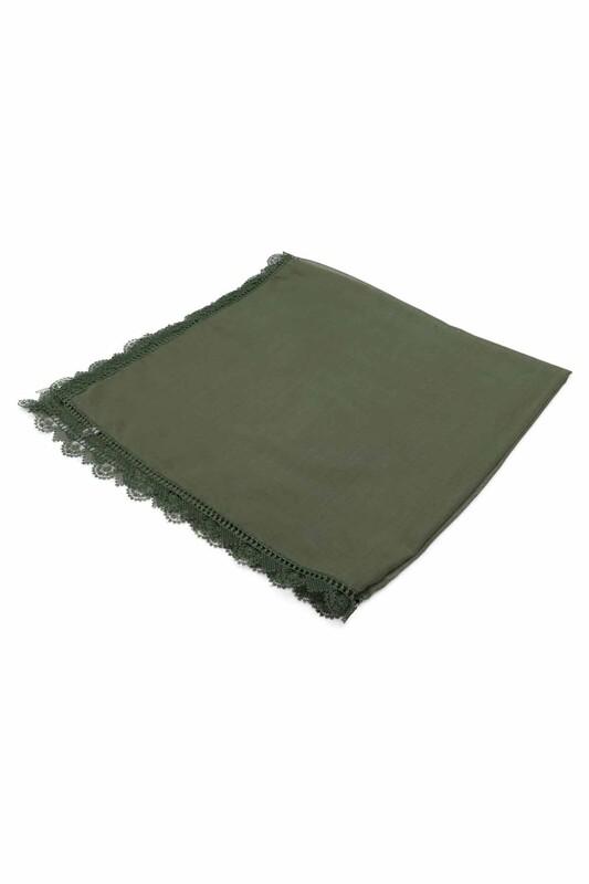 SİMİSSO - İğne Oyalı Tülbent 90 cm | Yeşil