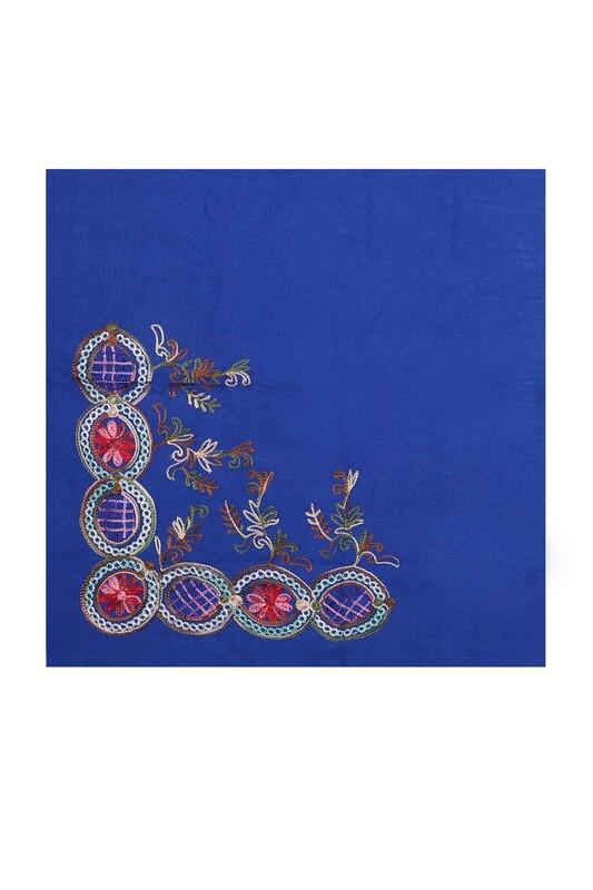 TAC MAHAL - Tac Mahal Nakış İşlemeli Pamuklu Eşarp 100'lük 002 | Saks
