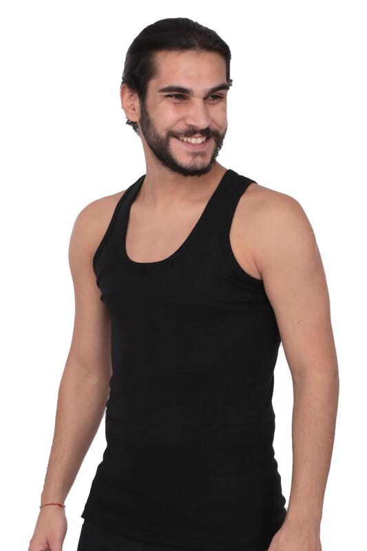 TUTKU - Tutku Erkek Ribana Atlet 102 6'lı Paket | Siyah